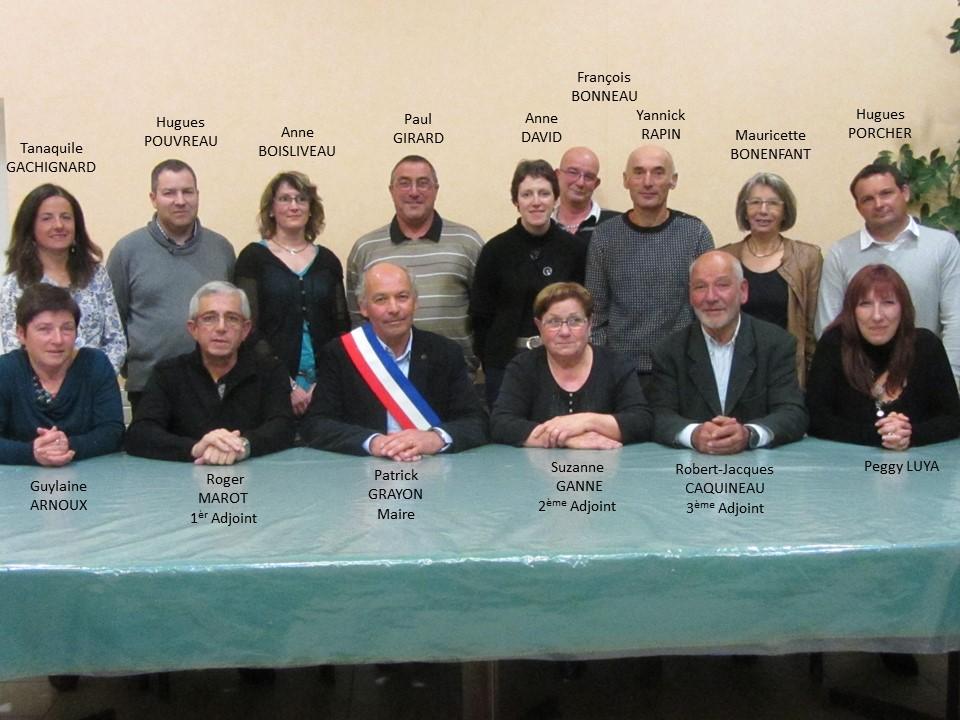 membres du conseil municipal 2014