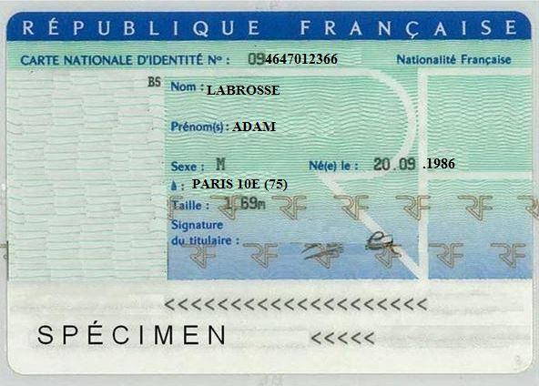 la carte d'identité à portée de clic