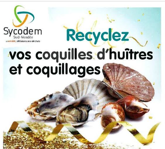 Recyclez vos coquilles d'huitres et coquillages